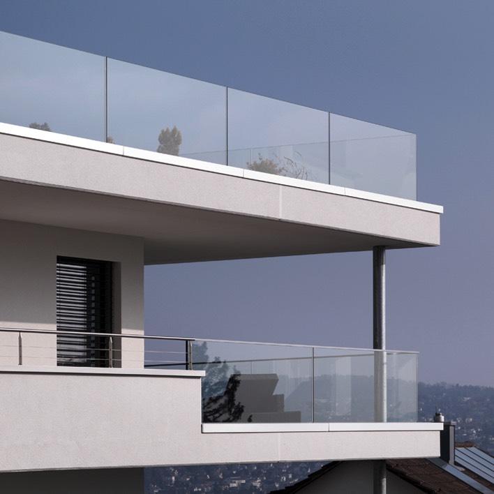 Casteel s r l parapetti in vetro e ringhiere in alluminio - Parapetti scale in vetro ...